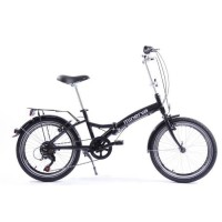EXODUS Vélo pliable aluminium 6 speed noir