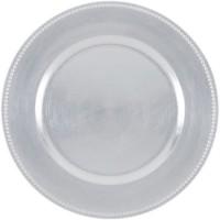 ABS T1904301-AX lot de 6 dessous d'assiettes en pp effet perle d33cm - Argent