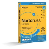NORTON 360 Deluxe 25 Go FR 1 Utilisateur 3 Appareils - 12 Mo STD RET ENR MM