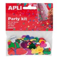 APLI Sachets Confettis Coeurs Métallisées Assorties 14 gr