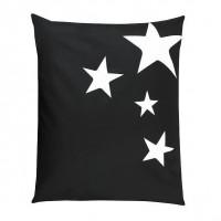 Pouf XXL STARS Tissu imperméable - Noir - 100x120 cm