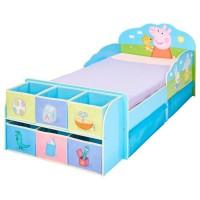 Peppa Pig - Lit pour enfants avec cubes de rangement a jouets