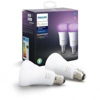 PHILIPS HUE Pack de 2 ampoules White & Color Ambiance - 10 W - E27 - Bluetooth