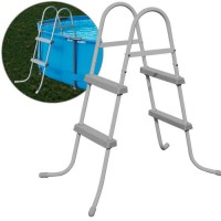 BESTWAY Echelle 2 x 2 marches pour piscine - H 84 cm