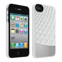 Housse en métal blanc / argent pour iPhone 4 / 4S (F8Z864CWC00)