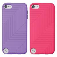 Pack de 2 Housses en silicone pour iPod Touch 5e génération Violet/Rose