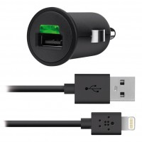 Micro Chargeur Allume Cigare USB 2.1 Ampères + Câble USB Lightning
