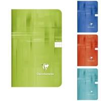 CLAIREFONTAINE - Carnet piqûre - 11 x 17 - 96 pages - 5 x 5 - Papier P.E.F.C - Couverture pelliculée - 4 couleurs aléatoires