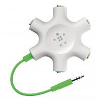 Le diviseur Jack audio versent Smartphone/MP3/Tablette 3,5 millimètres tactiles Vert