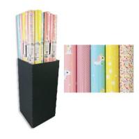 CLAIREFONTAINE Carton présentoir Licorne - Sous film - 80 g/m² - 5 motifs assortis