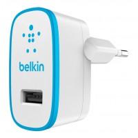 Chargeur secteur USB 2.1 amp bleu