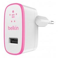 Chargeur secteur USB 2.1 A, couleur rose