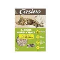 CASINO Litiere Agglomérante Végétale 5 L - Pour chat