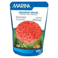 MARINA Gravier Deco orange - 450 g - Pour aquarium