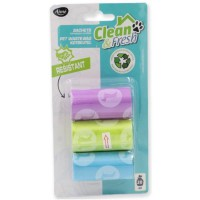 AIME Recharge 3 rouleaux de 20 sacs a crottes Clean and Fresh - Pour chien