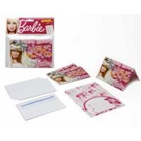 ATOSA Pack de 4 cartes d'invitations - Collection Barbie - Fille - 15x10 cm