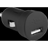 Mini base USB de chargeur allume-cigare noire 1A