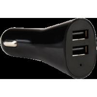 Base de chargeur allume-cigare noir 2 USB 4.8A