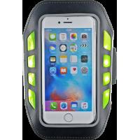Brassard noir avec LEDs réfléchissantes pour smartphones jusqu`à 5.5 pouces