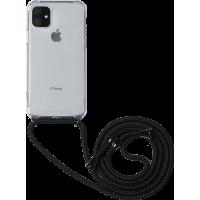 Coque rigide transparente à bandoulière amovible pour iPhone 11