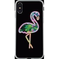 Coque rigide holographique Flamingo pour iPhone X/XS