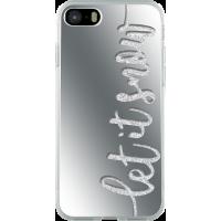 Coque rigide liquide pailletée effet miroir Let it snow pour iPhone 5/5S/SE