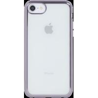 Coque semi-rigide transparente métal Gris sidéral pour iPhone 5/5S/SE