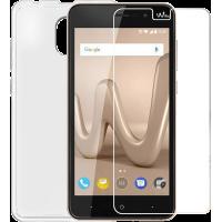Pack protection transparent avec coque et protège-écran pour Wiko Lenny 5
