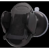 Support voiture universel noir avec système de fixation par ventouse ou par clip