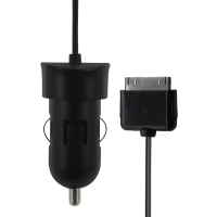 Chargeur allume-cigare filaire noir 2A connectique 30 broches Apple