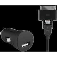 Chargeur allume-cigare noir 1A pour iPhone/iPod et téléphones micro USB
