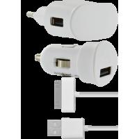 Pack de chargeurs pour iPhone 3G/3GS/4/4S