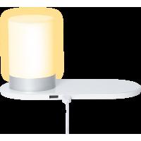 Lampe chargeur à induction Colorblock blanche