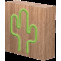 Lampe-enceinte sans fil ColorLight Néon cactus taille S Colorblock