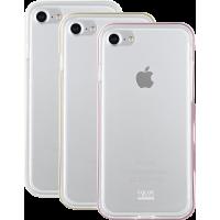 Lot de 3 bumpers Colorblock rose, doré et blanc pour iPhone 6/6S/7/8