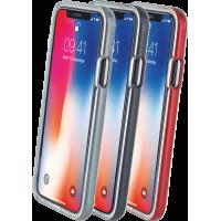 Lot de 3 bumpers Colorblock argenté, bordeaux et gris sidéral pour iPhone X/XS