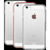 Lot de 3 bumpers Colorblock argenté, bordeaux et gris sidéral pour iPhone 5/5S/S