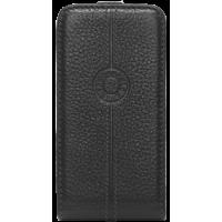 Etui coque Façonnable en cuir grainé noir pour iPhone 5/5S