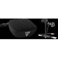 Pack Guess avec enceinte sans-fil Bluetooth noir et kit piéton stéréo noir
