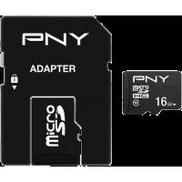 Carte mémoire Micro SD class 10 50MB/s Performance Plus PNY 16 Go