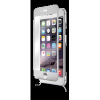 Protège-écran intégral en verre trempé contour argenté Qdos pour iPhone 6