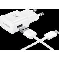 Chargeur secteur rapide blanc Samsung pour smartphones équipés d`un port USB C