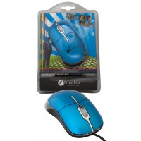 Souris optique filaire USB clique simple bleu USB/PS2