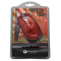Souris optique simple filaire USB clic rouge USB/PS2