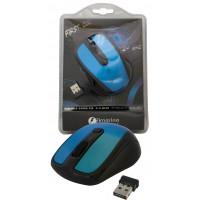 souris sans fil optique 2.4 ghz firstclic bleue