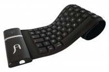 Clavier sans fil flexible bluetooth noir (15395)