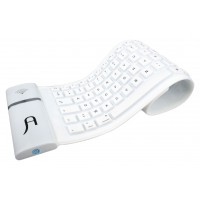 Clavier sans fil flexible bluetooth blanc (15396)