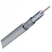 Koka 799 câble coaxiale pour à l'interieur (blanc) – 20 m avec une faible amortissement et très haute blindage