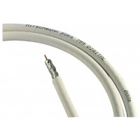 Bobine de câble coaxial double blindage, 500m, blanc