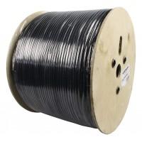 Câble coaxial à double blindage sur bobine de 500m noir